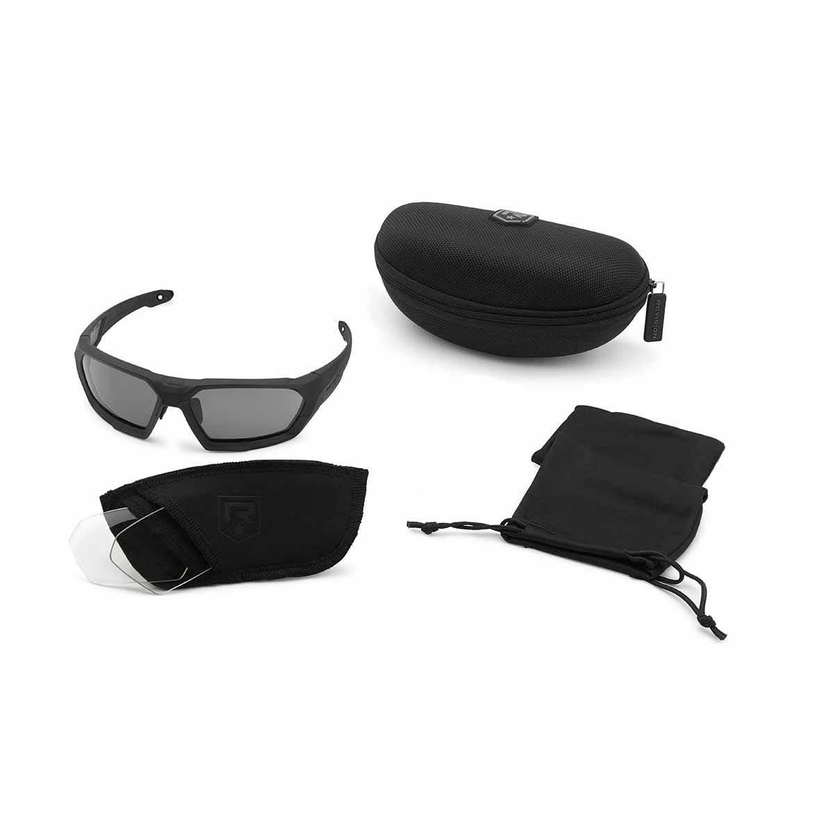 Revision Military Shadowstrike Ballistic Sunglasses Military Kit One ... Black