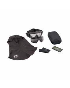 SnowHawk-Vollschutzbrillensystem – Militär-Set – Sturmhaube